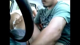 Valuable hooker engulfing and fucking in the car - hidden web camera 1