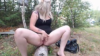 Beautiful Blonde in the Forest 5