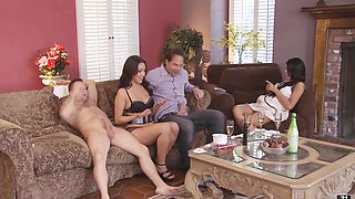 Swingers have a foursome and we are invited to watch