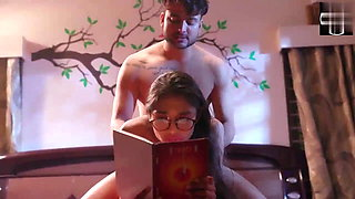 Sexy Indian girl fucking her boyfriend while studying.