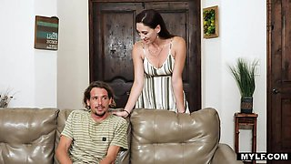 Super sexy Donna Artemisia Love makes her geek stepson a real man
