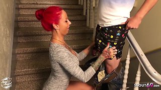 Condom Off And Cum On Asshole By German Redhead Teen Hooker With Anni Angel