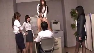 Nippon femdom group peeing facesitting foodjob office japan