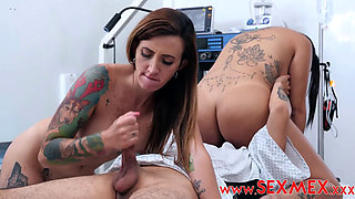 Hot Nursing Lucky Patient Fuck 2 Babes