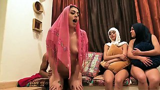 College dorm party hd Hot arab gals try foursome