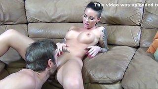 Incredible pornstar Christy Mack in horny piercing, facial porn clip