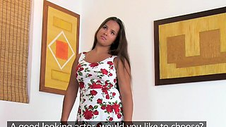 Fake Agent Natural chubby tanned cute amateur