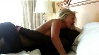 Black king fucks cute blonde wife