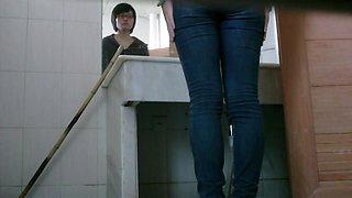 Public bathroom gets a hidden cam of it own from a voyeur