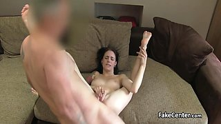 Busty skinny babe satisfied casting agent