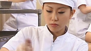 Japanese nurse working hairy penis