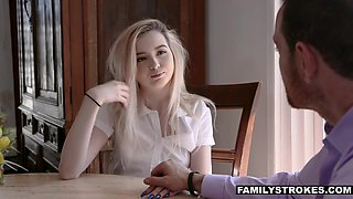 Holly daddy will go to hell because of sex with pretty stepdaughter