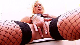 Best pornstar in amazing blonde, mature porn movie
