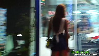 Amateur Thai hoe with puffy dark nipples Milk gives her head and gets laid