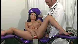 Oriental nympho Kaiya Lynn loves using her robotic powered dildo for sure