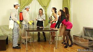 Glamorous European chicks with big boobs, Emma Diamond, Jenna Lovely, Mia Melone, Samantha