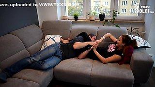 Sister Makes Brother Kiss Feet