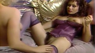 Gorgeous smooth skin redhead milf toyed by her blonde friend