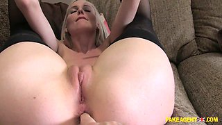 Lexi in Blonde pops anal cherry in casting - FakeAgentUk