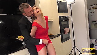 PASCALSSUBSLUTS - Lady Ashley Lane dominated in the kitchen