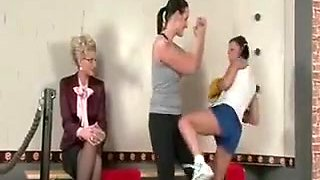 Lesbo Mistress And Wet Slaves In 3some