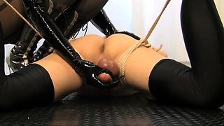 Submissive amateur guy getting his cock and balls vibrated