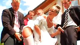 Gangbang bride outdoor