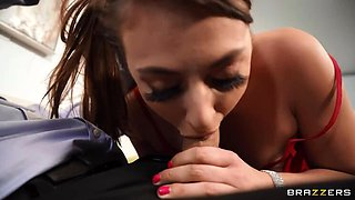 BRAZZERS Dinner Guest Gia Derza is an Anal Cheater