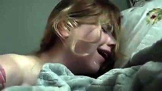 Beautiful blonde teen has a long shaft plowing her holes