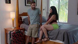 Naughty America - Gabriela Lopez fucks in sexy red stockings