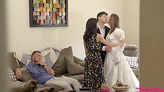 Home sex shows stepdaughter fucking like a slut