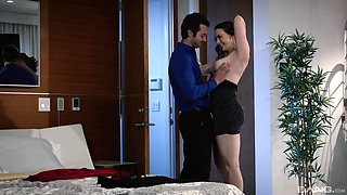 Undressed beauty shares the lust with the younger step son