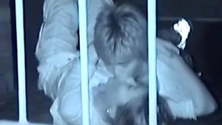 Japanese couple caught outside on pubic sex hidden cam video