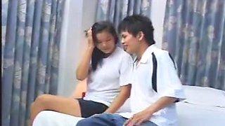 Thai teenagers making sweet love