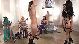Mistresses Dominate Their Sex Slave