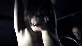Huge titts of a slave strangled in bondage