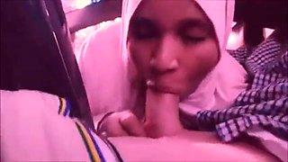 Neha amateur indian muslim blows boss in car 3
