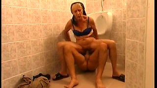 Slim unshaved granny - crapper woman in Hungary